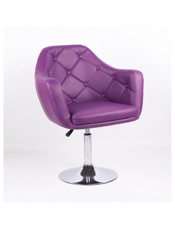 DERMEA - fotel fryzjerski fioletowy
