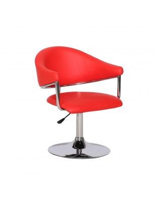 Carole - Fotel fryzjerski czerwony na dysku