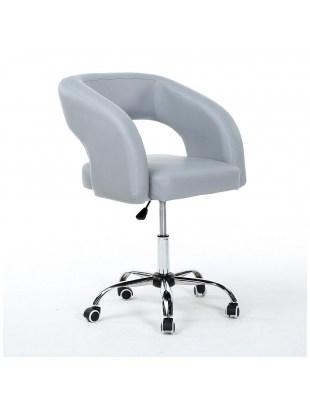 FUJI - Fotel fryzjerski szary