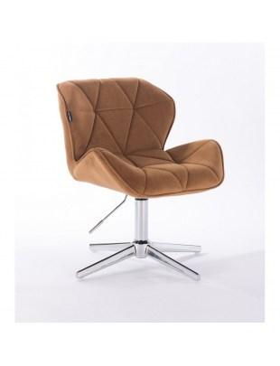 Petyr - krzesło kosmetyczne tapicerowane miodowym welurem