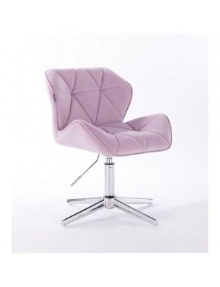 Petyr - krzesło kosmetyczne tapicerowane wrzosowym welurem