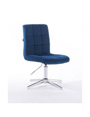 Camelia - krzesło kosmetyczne ciemny morski welur