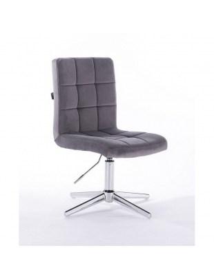 Camelia - krzesło kosmetyczne grafitowy welur