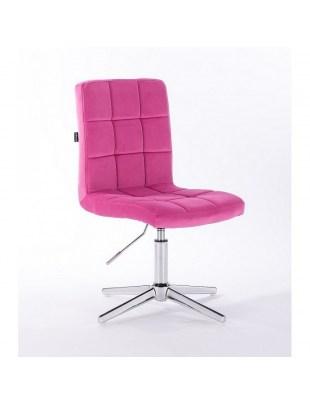 Camelia - krzesło kosmetyczne malinowy welur