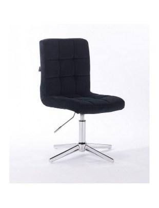 Camelia - krzesło kosmetyczne czarny welur