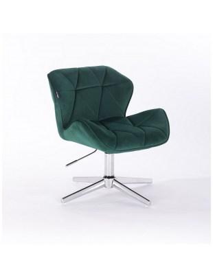 Petyr - krzesło kosmetyczne butelkowa zieleń