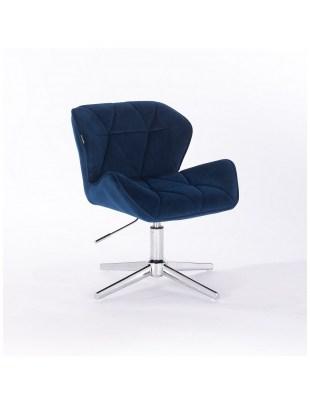 Petyr - krzesło kosmetyczne ciemne morze welur