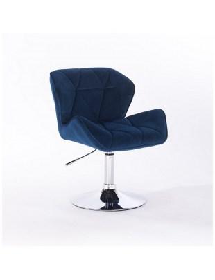Petyr - krzesło kosmetyczne ciemne morze dysk