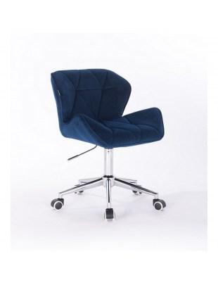 Petyr - krzesło kosmetyczne ciemne morze kółka