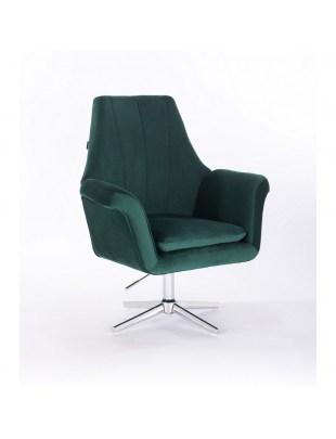 Marky - krzesło kosmetyczne butelkowa zieleń