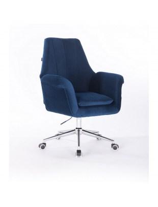 Marky - krzesło kosmetyczne ciemne morze kółka