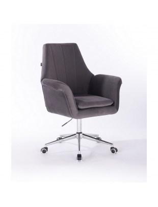 Marky - krzesło kosmetyczne grafit kółka