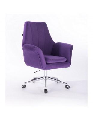 Marky - krzesło kosmetyczne fioletowe kółka