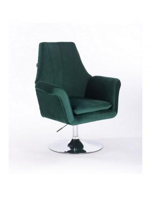Marky - krzesło kosmetyczne butelkowa zieleń dysk