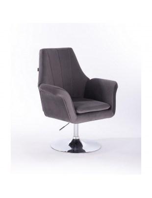 Marky - krzesło kosmetyczne grafit dysk