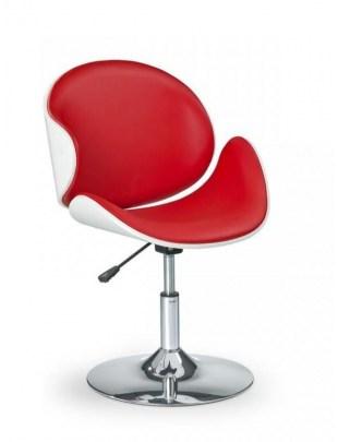 Fotel fryzjerski H42 - czerwono-biały