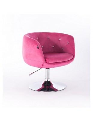 BARDO CRISTAL - Krzesło kosmetyczne malinowe