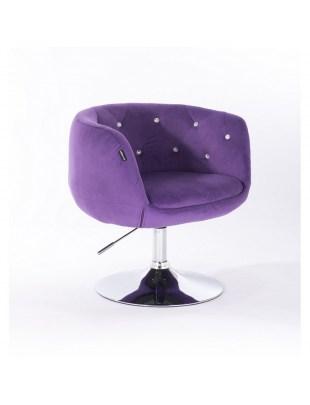 BARDO CRISTAL - Krzesło kosmetyczne fioletowe