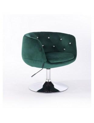 BARDO CRISTAL - Krzesło kosmetyczne butelkowa zieleń