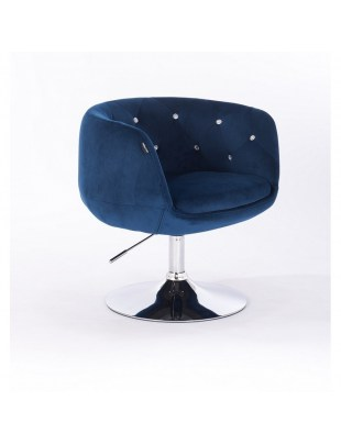 BARDO - Krzesło kosmetyczne ciemne morze