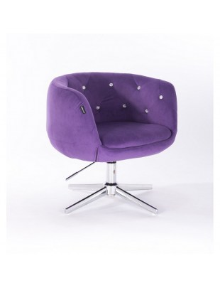 BARDO - Krzesło kosmetyczne fioletowe krzyżak