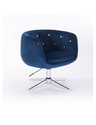 BARDO - Krzesło kosmetyczne ciemne morze krzyżak