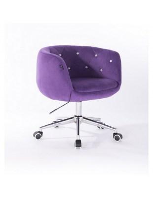 BARDO - Krzesło kosmetyczne fioletowe kółka