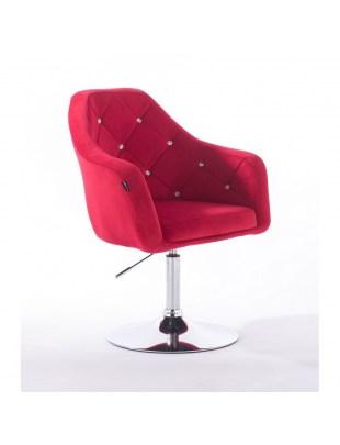 Blerm glat – krzesło kosmetyczne czerwone dysk