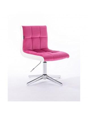 Crispy - krzesło kosmetyczne malinowe, welur