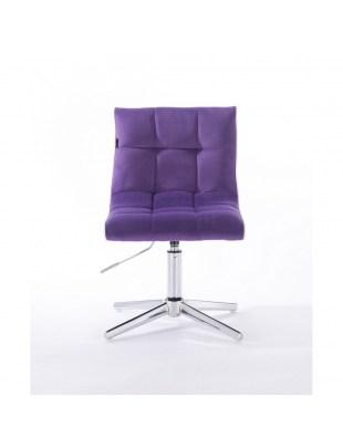 Crispy - krzesło kosmetyczne fioletowe, welur