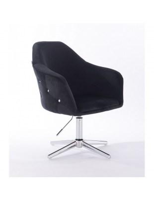Eduardo - krzesło kosmetyczne tapicerowane czarne