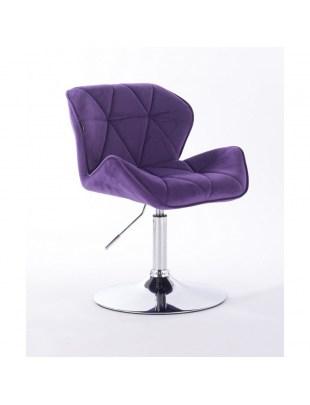 Petyr - krzesło kosmetyczne fioletowe dysk