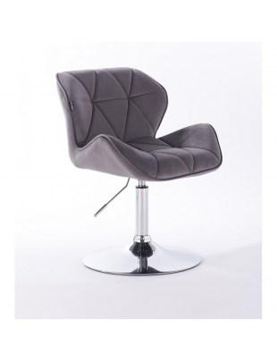 Petyr - krzesło kosmetyczne grafitowe dysk