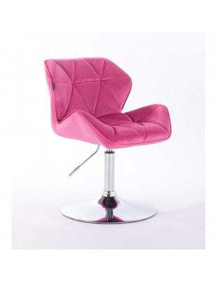Petyr - krzesło kosmetyczne malinowe dysk