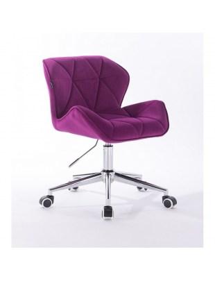 Petyr - krzesło kosmetyczne fuksja kółka
