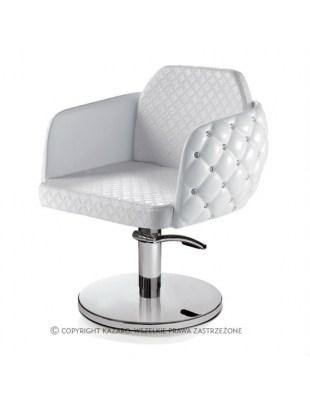 Fotel fryzjerski Diamante - biały