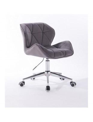 Petyr - krzesło kosmetyczne grafitowe kółka