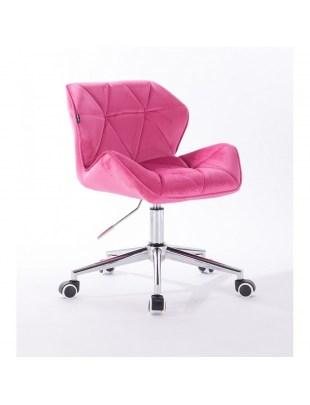 Petyr - krzesło kosmetyczne malinowe kółka