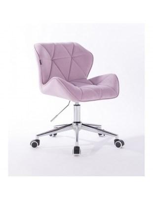 Petyr - krzesło kosmetyczne wrzosowe kółka