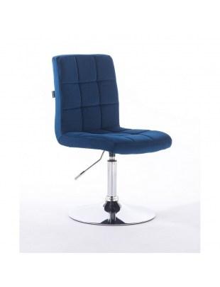 Camelia - Krzesło kosmetyczne ciemne morzez welur