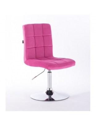 Camelia - Krzesło kosmetyczne malinowe welur