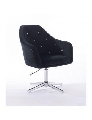Krzesło kosmetyczne BLERM CRISTAL czarne - cross