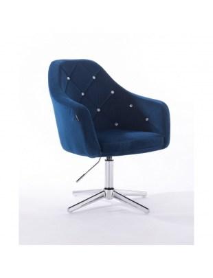 Krzesło kosmetyczne BLERM CRISTAL ciemne morze - cross
