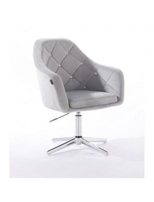 Krzesło kosmetyczne BLERM CRISTAL stalowe z kryształkami - cross