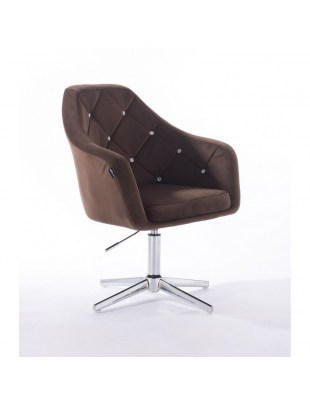 Blerm glat – krzesło kosmetyczne brązowe