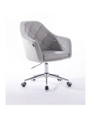 Krzesło kosmetyczne BLERM CRISTAL stalowe z kryształkami - kółka