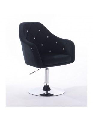BLERM CRISTAL - Krzesło kosmetyczne czarne WYBÓR PODSTAW