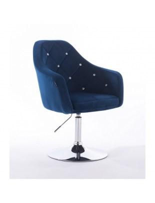 BLERM CRISTAL - Krzesło kosmetyczne ciemne morze WYBÓR PODSTAW