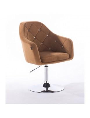 BLERM CRISTAL Krzesło kosmetyczne miodowe WYBÓR PODSTAW