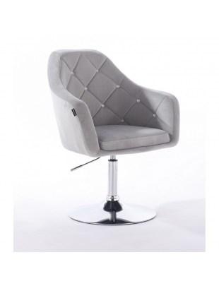 BLERM CRISTAL - Krzesło kosmetyczne stalowe z kryształkami WYBÓR PODSTAW